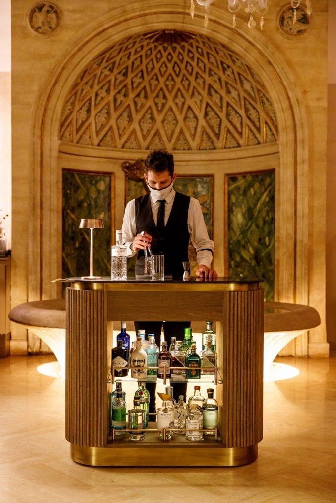 Il gin trolley al Caffè Doria