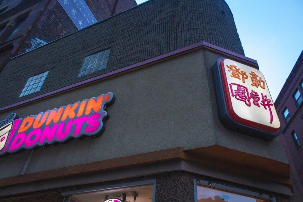 insegna Dunkin' Donuts