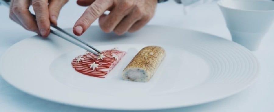 Salmocarpio con rapanelli di Alfio Ghezzi
