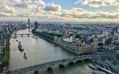 Panorama di Londra dal Tamigi