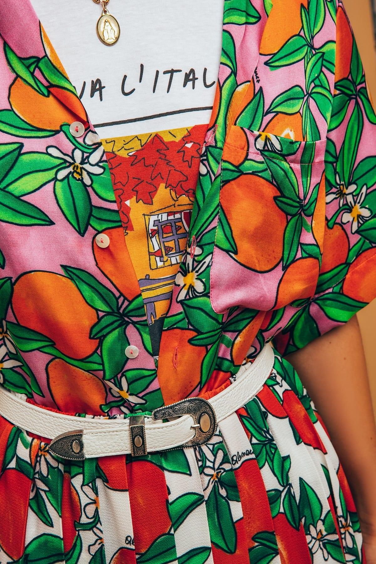 Camicia con mandarini