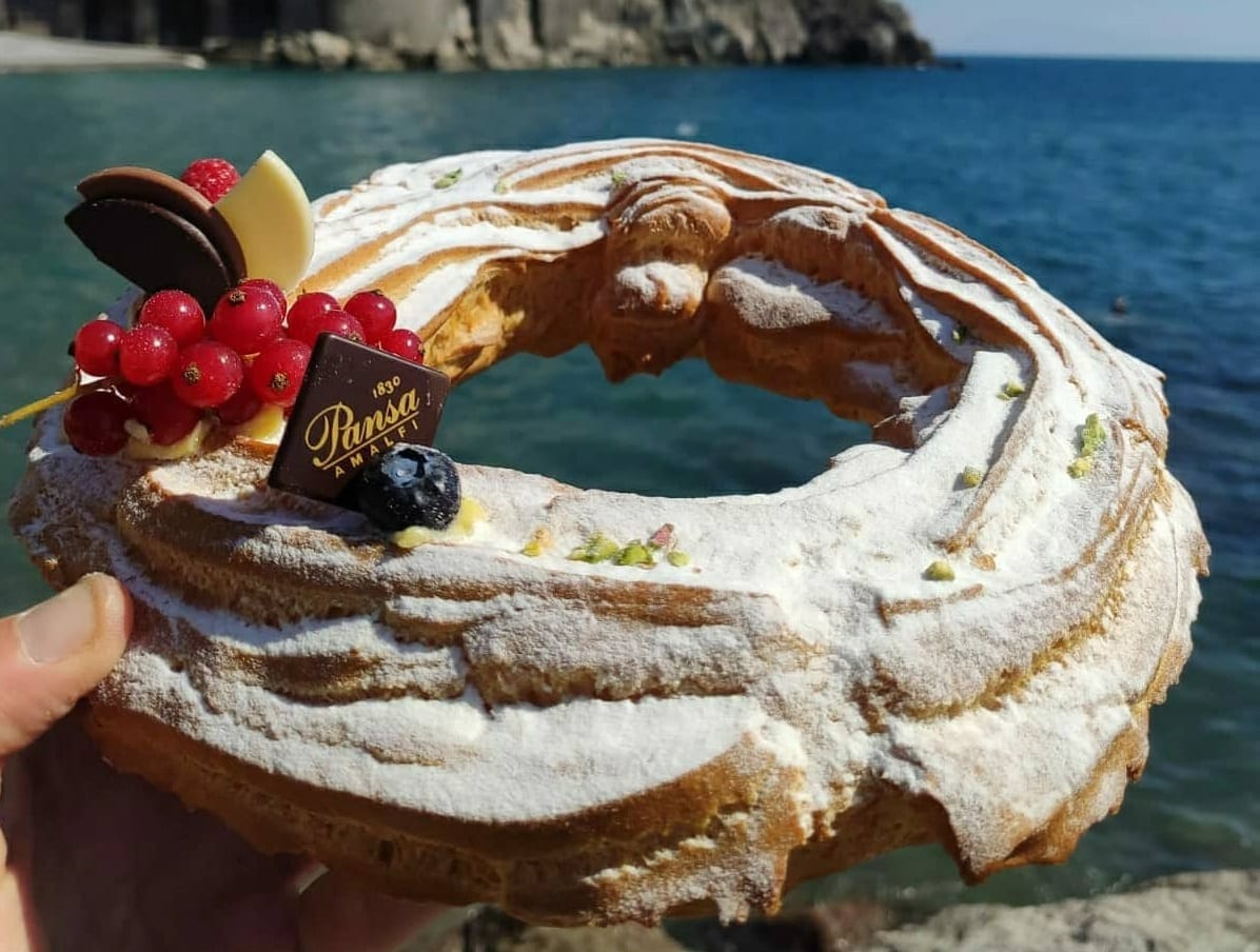 La zeppola di Pansa ad Amalfi