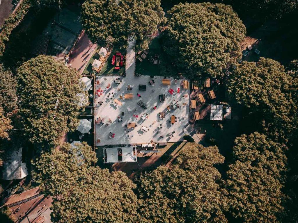 L'area del Parco Appio vista dall'alto