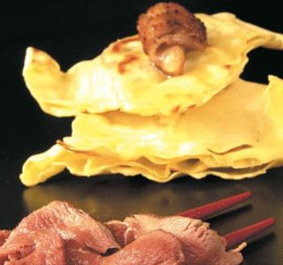 Ravioloni fritti d'anatra