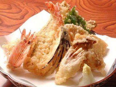 Tempura di pesce giapponese