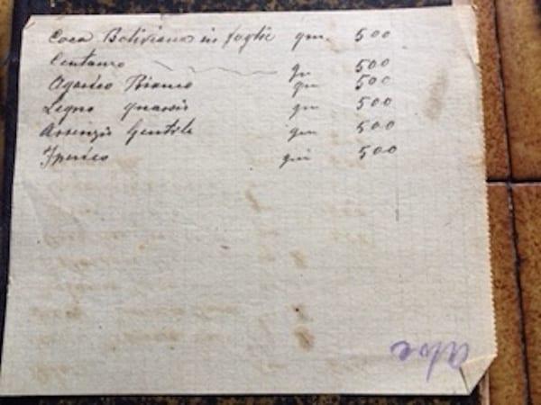 appunti scritti a mano dal liquorista (1)