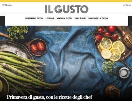 l'homepage del sito ilgusto.it