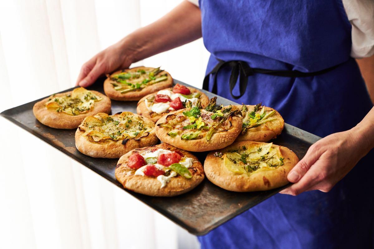 Le pizze di Cugino, bar dell'hotel The Hoxton di Roma ©Andrea Di Lorenzo