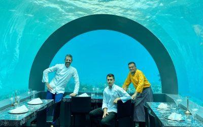 Andrea Berton nel ristorante underwater H2O
