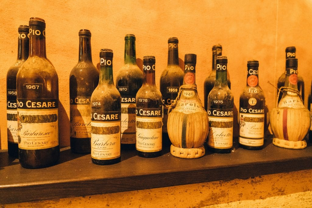 pio cesare bottiglie storiche