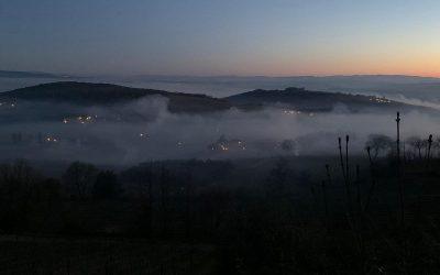 Fuochi in vigna a Montalcino