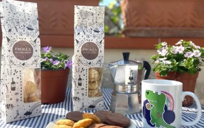biscotti e caffè in terrazza