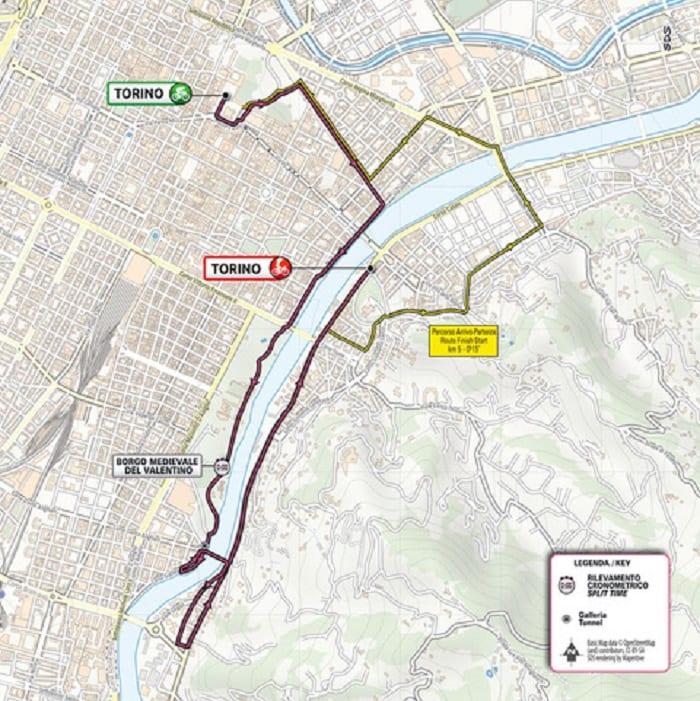 La mappa della prima tappa del Giro d'Italia 2021