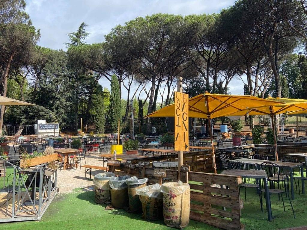 Scopri i posti per mangiare nel verde a Roma