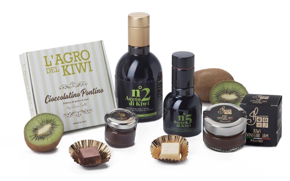 Cioccolato e aceto di kiwi