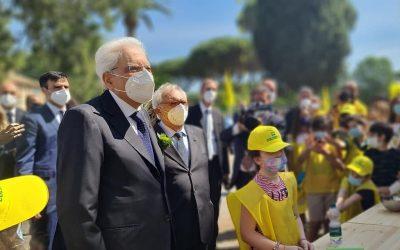 Il presidente Mattarella con gli studenti