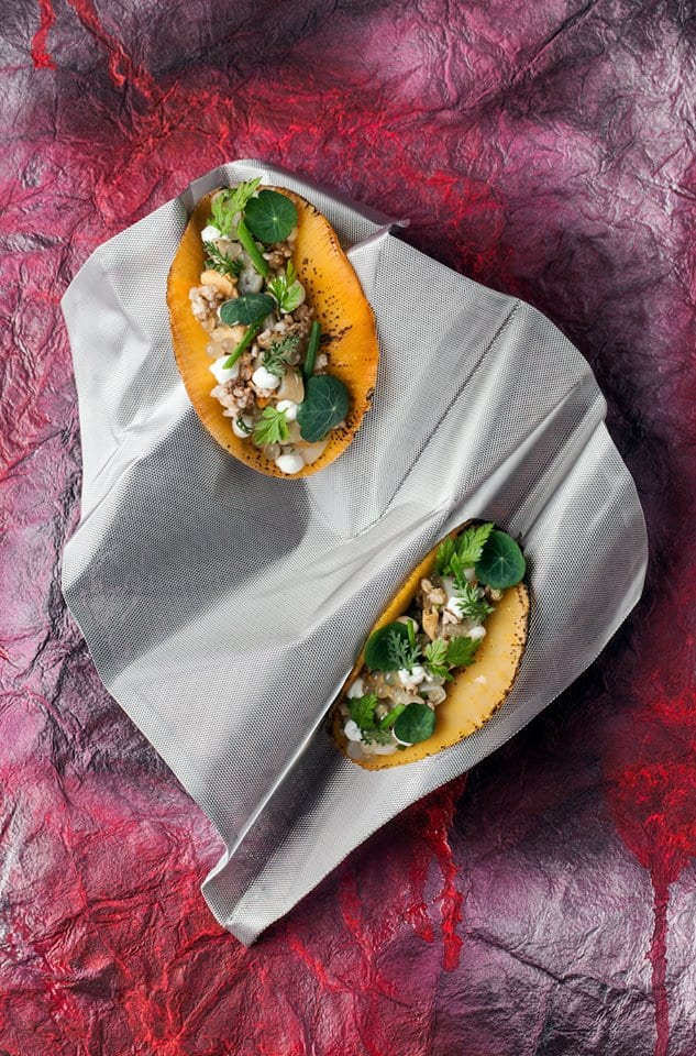 Tacos di grano saraceno con molluschi, The Cell