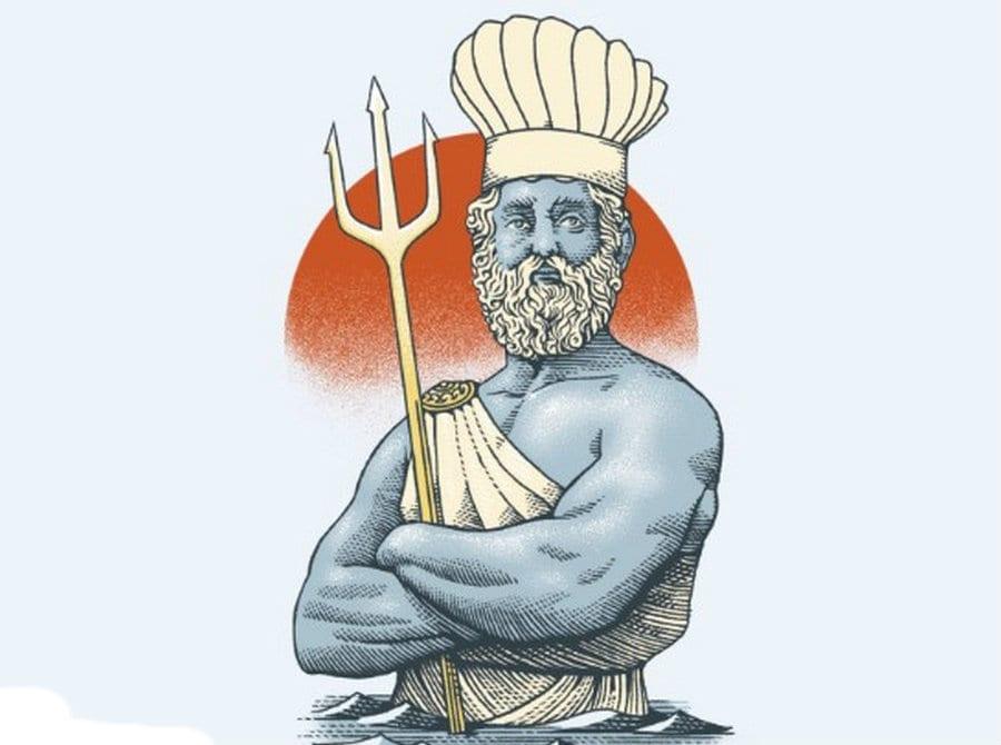 Poseidone. disegno di Marcello Crescenzi