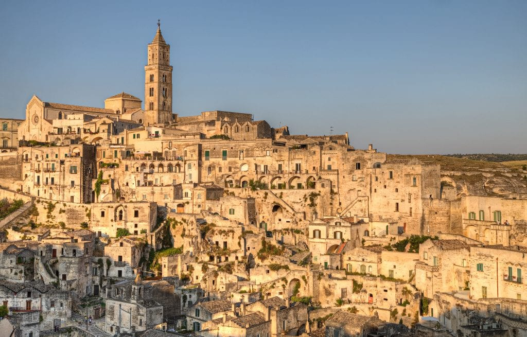 Vista panoramica di Matera