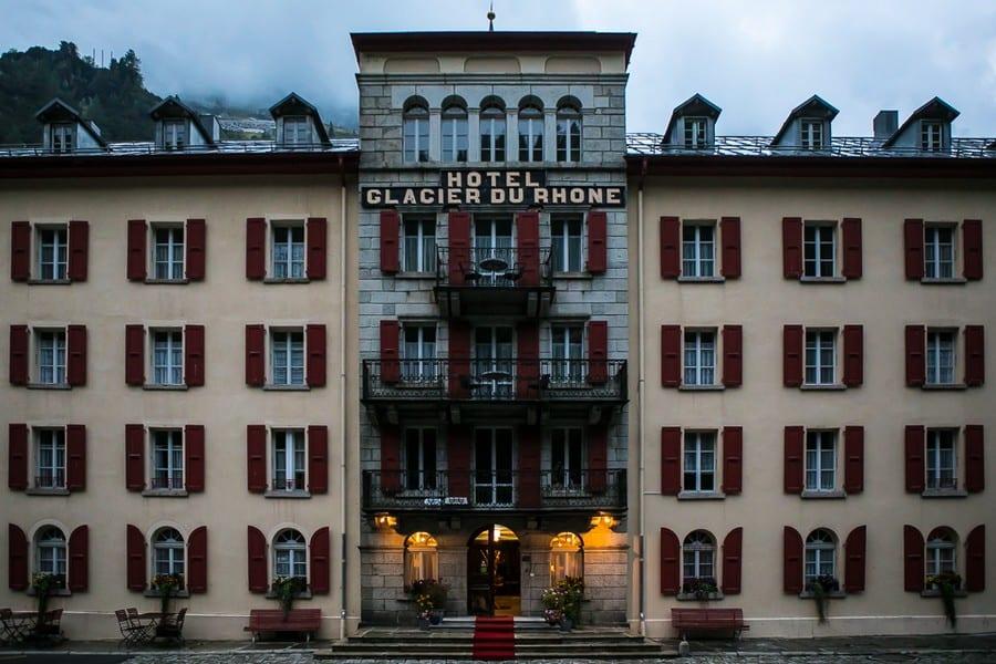 Grand Hotel Glacier du Rhône. Foto di Alberto Blasetti