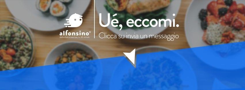 il banner del food delivery Alfonsino