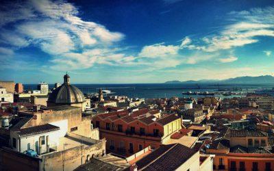 Una veduta di Cagliari dall'alto