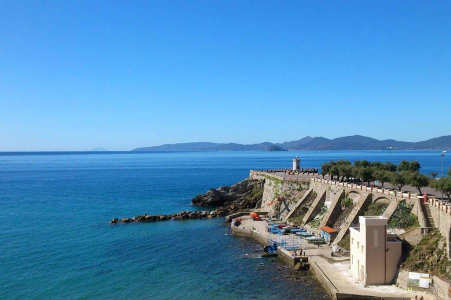 panorama sul mare da Piombino