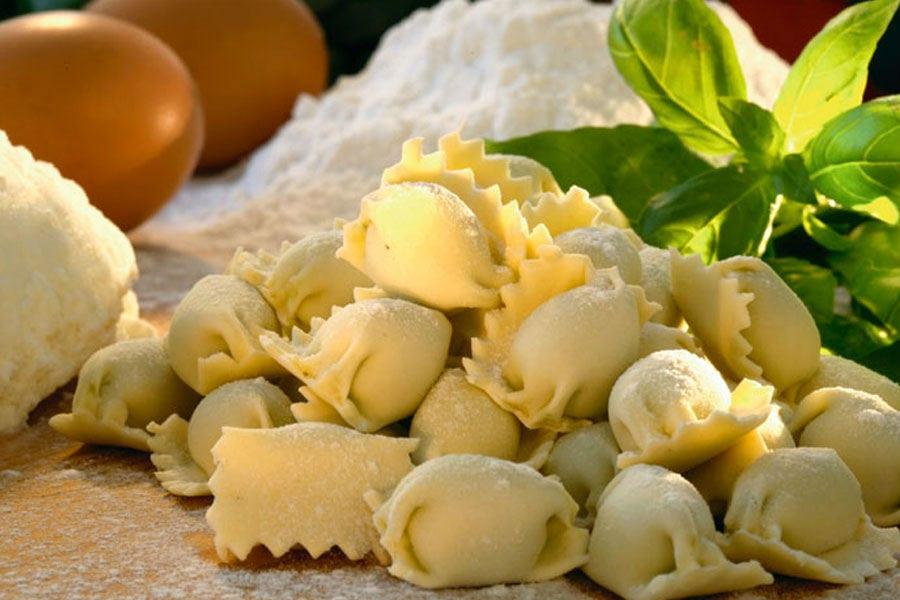 Plin al basilico del pastificio Novella