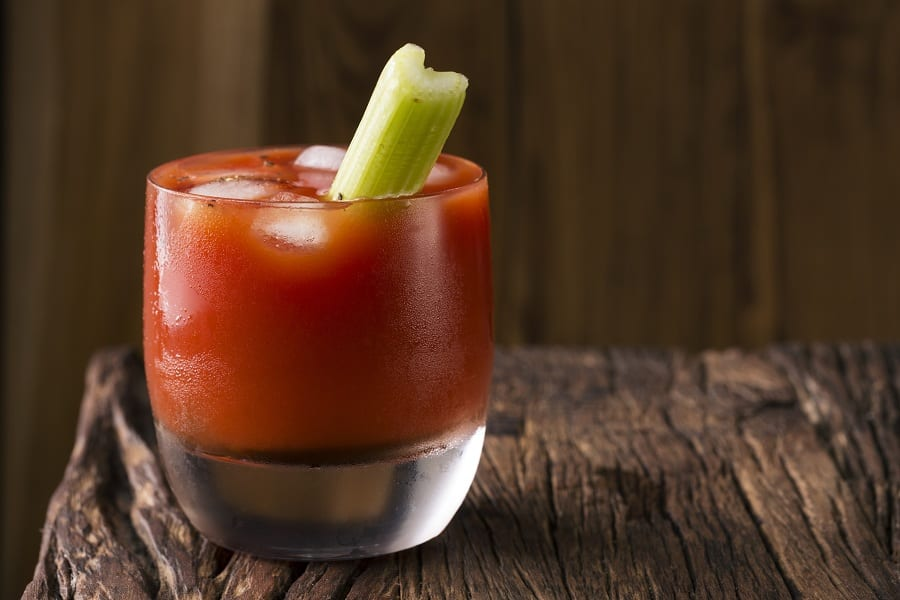 Un bicchiere di Bloody Mary