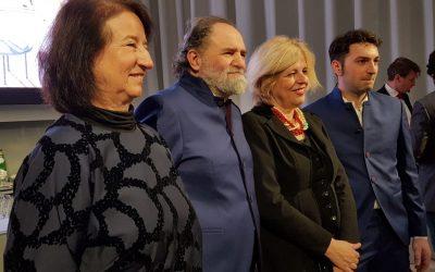 Martino Ruggieri e Luciano Tona alla conferenza di presentazione della finale Bocuse d'Or 2019