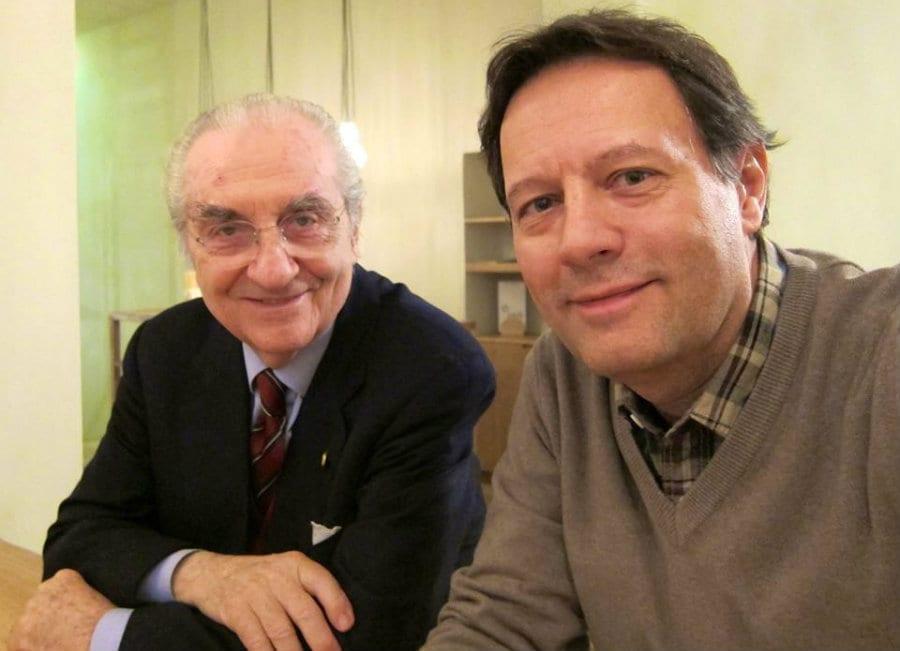 Brendan Becht  con Gualtiero Marchesi