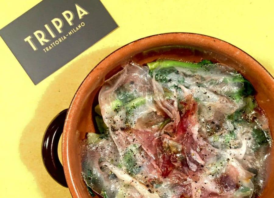 Broccolo fiolaro e guanciale di Trippa a Milano