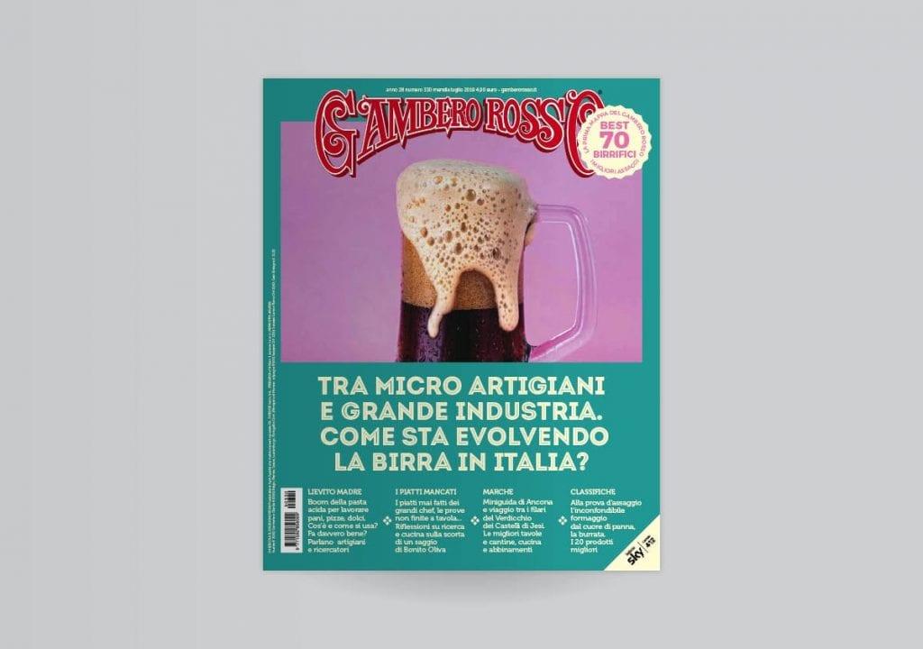 La copertina del numero di luglio 2019 del Gambero Rosso