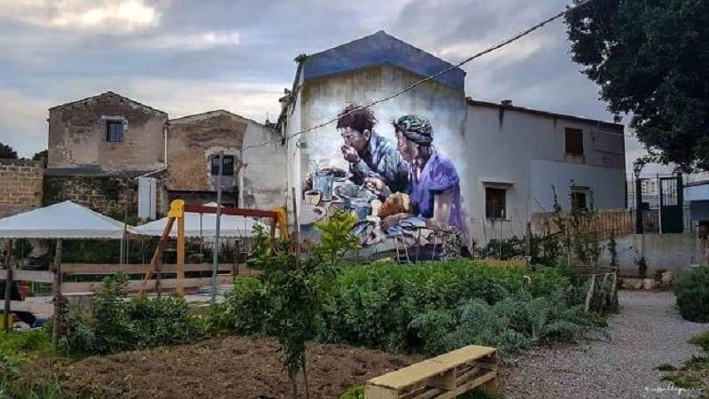 Murale nella fattoria di Danisinni