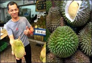 Venditore di durian