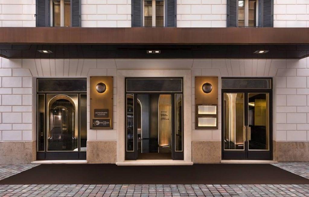 pantheon iconic hotel, l'ingresso