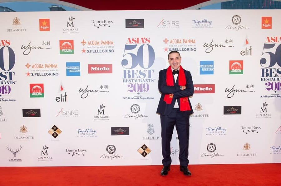 Fabrizio Fiorani sul red carpet dell'Asia's 50 Best Restaurants 2019