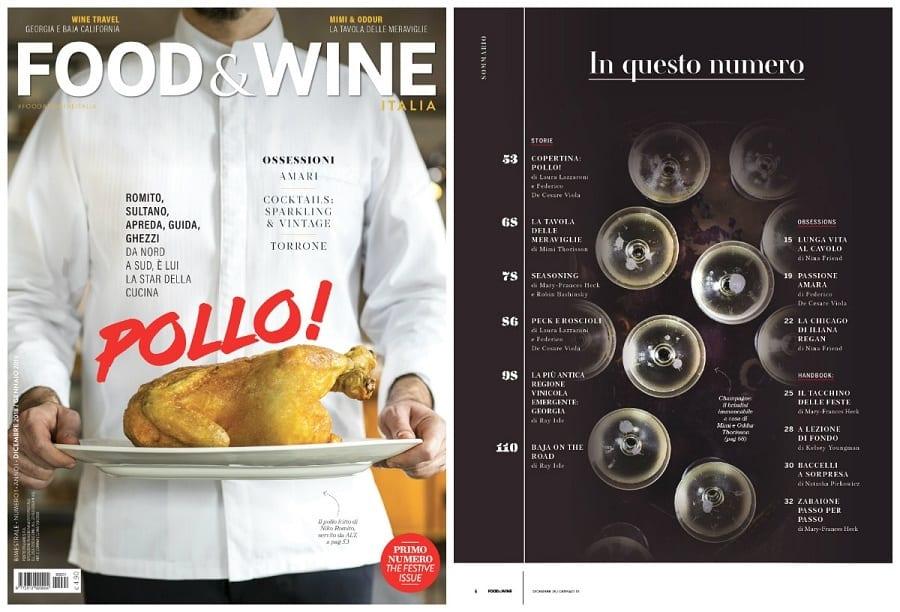 la copertina di una rivista sul cibo