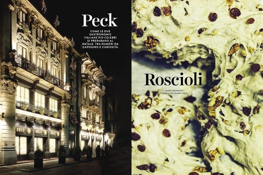 due pagine di rivista, peck e roscioli