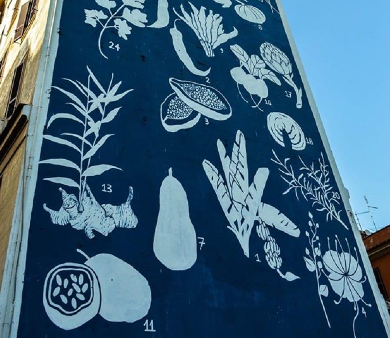 Herbarium di Tor Pignattara, il murales