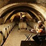 039 Gerardo Giuratrabocchetti proprietario di Cantine del Notaio firma uno dei suo vini di punta l Aglianico del Vulture La Firma