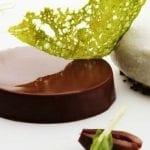 04 Cremino al cioccolato con olive nere sorbetto ai capperi