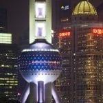 Shangai particolare della Pearl Tower