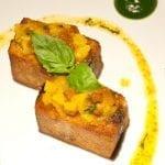 Fegatino di pollo come un foie gras con arancia e fichi