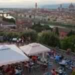 Firenze al centro la torre di Palazzo della Signoria a dx il Duomo