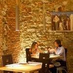 Interni del ristorante Santo Graal di Firenze