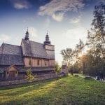 Polonia Nowy Sacz Parco etnografico Sadecki Chiesa in legno