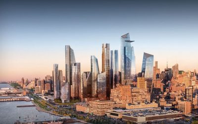 Lo skyline di Hudson Yards a New York