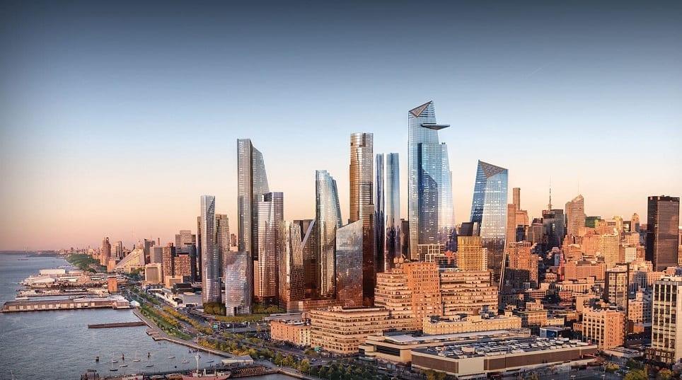 Lo skyline di Hudson Yards a New York