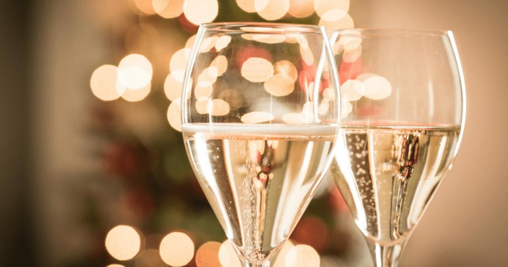 Bicchiere di vino spumante